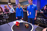 16/05/2017  Repro Free:  The EA Robot Games Ireland competition saw 550 students, from 25 schools across the country, battling 184 robots for the ultimate prize. The competition is sponsored by EA Games &amp; Bank of Ireland and run by Colmac Robotics. Ethan Dolan from Villiers of Limerick, retained the title that the the school  claimed last year of Mini Sumo Robot Champion 2017 at the Radisson Blu Hotel in Galway.<br />  Photo:Andrew Downes, xposure