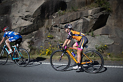 Emmy Andersson (SWE) of Crescent DARE Cycling team rides in the grupetto during the 117,5 km third stage of the 2016 Ladies' Tour of Norway women's road cycling race on August 13, 2016 between Svinesund, Sweden and Halden, Norway. (Photo by Balint Hamvas/Velofocus)