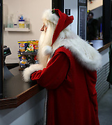 Father Christmas is at Craven Cottage during the Sky Bet Championship match between Fulham and Ipswich Town at Craven Cottage, London, England on 15 December 2015. Photo by Matthew Redman.
