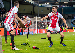 15-05-2019 NED: De Graafschap - Ajax, Doetinchem<br /> Round 34 / It wasn't really exciting anymore, but after the match against De Graafschap (1-4) it is official: Ajax is champion of the Netherlands / Dusan Tadic #10 of Ajax, Klaas Jan Huntelaar #9 of Ajax