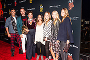 Producer Cecile Murias (in polka dot jacket) and friends