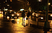 Two women on the street, Manhattan, New York, USA