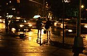 Two women on the street, Manhattan, New York, USA