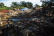 Destroyed homes in the village of Kpoto, Benin on Tuesday October 26, 2010.  Waters have receded in Kpoto, but most of the village was literally flattened by floods that have hit Benin over the past few weeks..