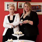 Warsaw, Poland, March the 3rd, 2013. Paulina and Weronika Papadrowska, polish sisters, 25 and 28 years old, who founded together their own business, called 'So sweet project'. Paulina and Weronika make decorated cupcakes for parties, special events, business meeting created with a very original and personal style in decoration and shapes. Every orders for them is different and personal. Orders for cupcakes are possibile through email by their website. Some Dr Kava cafes in Warsaw are also selling their product, but they prefere to keep an artistic and artisan concept instead of commercialize their products.