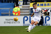 Leeds United midfielder Kalvin Phillips (23) during the EFL Sky Bet Championship match between Wigan Athletic and Leeds United at the DW Stadium, Wigan, England on 4 November 2018.