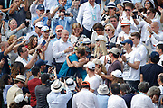 Simona HALEP (ROU) won the women tournament, celebration in stands with it trainer Darren Cahill during the Roland Garros French Tennis Open 2018, Final Women, on June 9, 2018, at the Roland Garros Stadium in Paris, France - Photo Stephane Allaman / ProSportsImages / DPPI