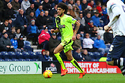 Huddersfield Midfielder Duane Holmes during the Sky Bet Championship match between Preston North End and Huddersfield Town at Deepdale, Preston, England on 6 February 2016. Photo by Pete Burns.