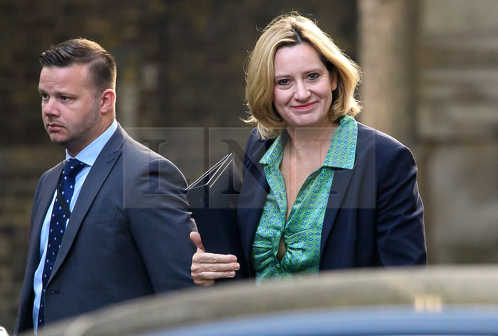 © Licensed to London News Pictures. 13/09/2016. London, UK.  Home secretary AMBER RUDD MP arrives at 10 Downing Street in London for cabinet meeting on September 13, 2016. Photo credit: Ben Cawthra/LNP