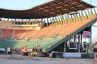 Stadium construction.<br /> Autodromo Hermanos Rodriguez Circuit Visit, Mexico City, Mexico. Thursday 22nd January 2015.