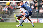 Charlton Athletic defender Patrick Bauer (5) on defensive duties during the EFL Sky Bet League 1 match between Milton Keynes Dons and Charlton Athletic at stadium:mk, Milton Keynes, England on 17 February 2018. Picture by Dennis Goodwin.
