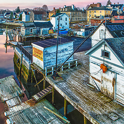 The South End at dawn, Portsmouth, New Hampshire.