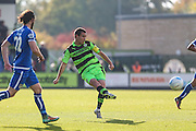 Forest Green Rovers Liam Noble(15) passes the ball during the Vanarama National League match between Forest Green Rovers and Guiseley  at the New Lawn, Forest Green, United Kingdom on 22 October 2016. Photo by Shane Healey.
