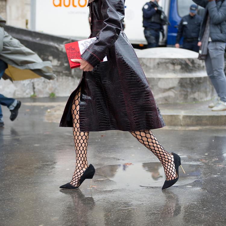 Vanessa Hong in an Ellery Coat, Outside Margiela FW2017