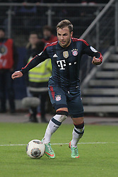 13.02.2014, Imtech Arena, Hamburg, GER, DFB Pokal, Hamburger SV vs FC Bayern Muenchen, Viertel Finale, im Bild Mario Goetze (FCB) // during the German DFP Pokal Quaterfinal match between Hamburger SV and Fc Bayern Munich at the Imtech Arena in Hamburg, Germany on 2014/02/13. EXPA Pictures © 2014, PhotoCredit: EXPA/ Eibner-Pressefoto/ Latendorf<br /> <br /> *****ATTENTION - OUT of GER*****
