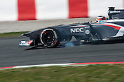 February 20, 2013 - Barcelona Spain. Nico Hulkenberg, Sauber F1 Team  during pre-season testing from Circuit de Catalunya.