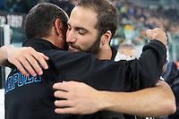 can - 29.10.2016 - Torino - Serie A 2016/17 - 11a giornata  -  Juventus-Napoli  nella  foto: l' abbraccio tra Maurizio Sarri e Gonzalo Higuain