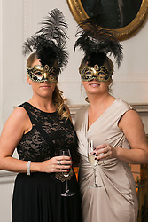 01 November 2013 Sandra and Mary Denton pictured at the Irish Cancer Society Masquerade Ball in the Shelbourne Hotel. For more information or to support the Irish Cancer Society please visit www.cancer.ie . Picture Andres Poveda