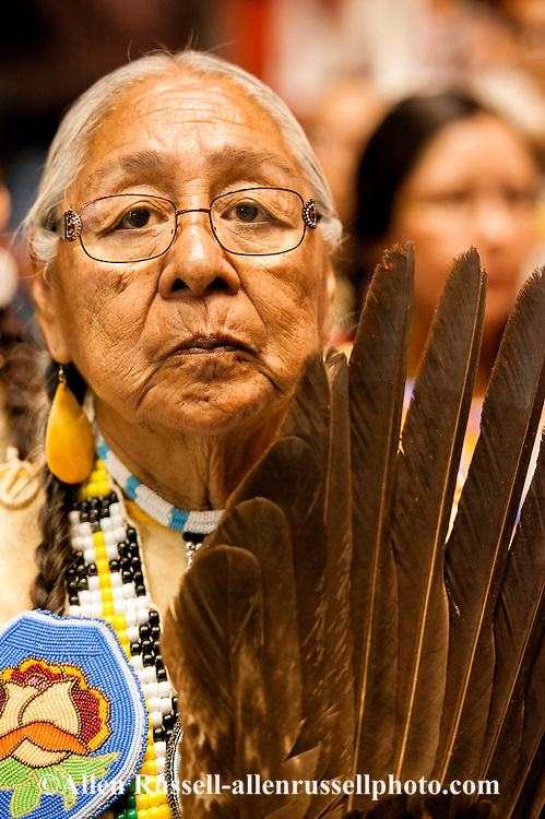 Gathering of Nations Pow Wow, Albuquerque, New Mexico, elder,  traditional dancer