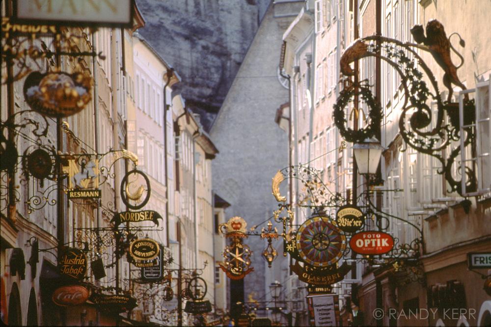 Sign street in Salzburg