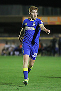 AFC Wimbledon midfielder Alfie Eagan (28) during the EFL Trophy match between AFC Wimbledon and Plymouth Argyle at the Cherry Red Records Stadium, Kingston, England on 4 October 2016. Photo by Stuart Butcher.