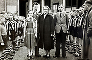 celebration with the local youth football team lined up Netherlands 1950s