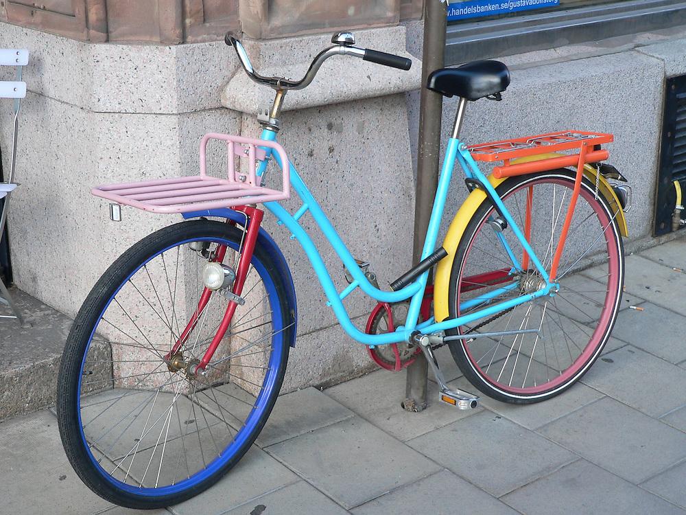 Färgglad cykel