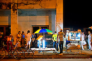 Kiosks in Mayari, Holguin Province, Cuba.