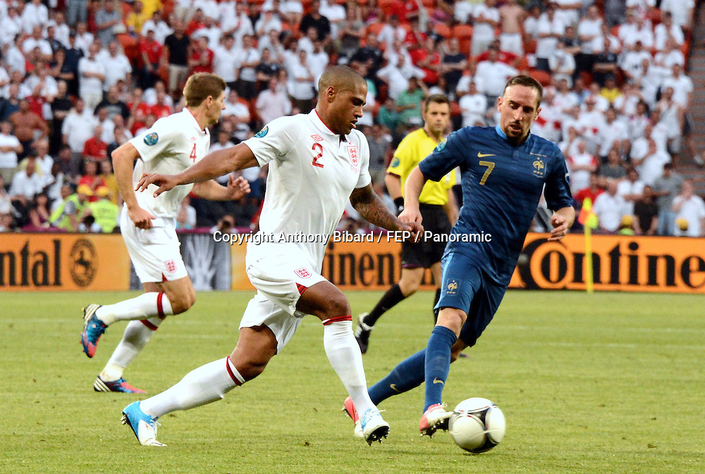 Glen Johnson (Angleterre) contre Franck Ribery (France)