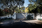 Los Angeles, April 8 2012- In front of Marilyn Monroe's last home in Brentwood, 12305 5th Helena Dr.