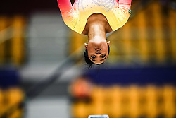 October 28, 2018 - Doha, Quatar - Rebeca Andrade of Brazil   during  Balancing Beam qualification at the Aspire Dome in Doha, Qatar, Artistic FIG Gymnastics World Championships on 28 of October 2018. (Credit Image: © Ulrik Pedersen/NurPhoto via ZUMA Press)