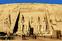 view of the ramses the great 's abou simbel temple along the aswaan lake in egypt