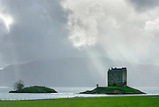 Castle Stalker Port Appin Scotland. This Castle was made famous by appearing in the closing scenes of Monty Python and the Holy Grail.