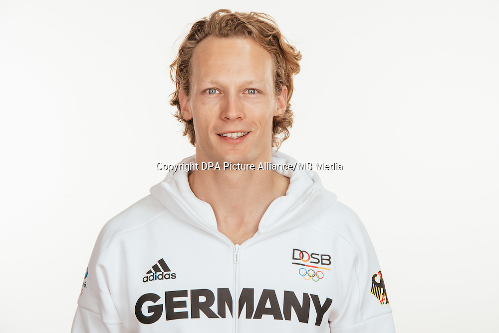 Tobias Scherbarth poses at a photocall during the preparations for the Olympic Games in Rio at the Emmich Cambrai Barracks in Hanover, Germany, taken on 19/07/16   usage worldwide