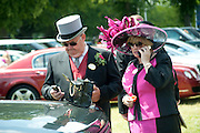 ANDREW ELLIOT; KATHERINE ELLIOT, Royal Ascot. Tuesday. 14 June 2011. <br /> <br />  , -DO NOT ARCHIVE-&copy; Copyright Photograph by Dafydd Jones. 248 Clapham Rd. London SW9 0PZ. Tel 0207 820 0771. www.dafjones.com.