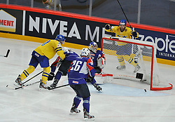 11.05.2013, Globe Arena, Stockholm, SWE, IIHF, Eishockey WM, Schweden vs Slowenien, im Bild Sverige Sweden 12 Fredrik Pettersson mål 2-0 goal jubel glädje lycka glad happy // during the IIHF Icehockey World Championship Game between Sweden and Slovenia at the Ericsson Globe, Stockholm, Sweden on 2013/05/11. EXPA Pictures © 2013, PhotoCredit: EXPA/ PicAgency Skycam/ Simone Syversson..***** ATTENTION - OUT OF SWE *****