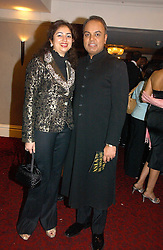 Holistic practioner DR NISH JOSHI and JAGRATI GOLECHHA at the 10th Anniversary Asian Business Awards 2006 at the London Grosvenor Hotel Park Lane, London on 19th April 2006.<br />