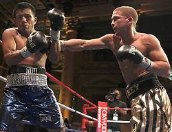 May 21, 2010; New York, NY; USA; Mike Faragon stops Francisco Palacios in the fourth round of their bout at the Capitale in NYC.