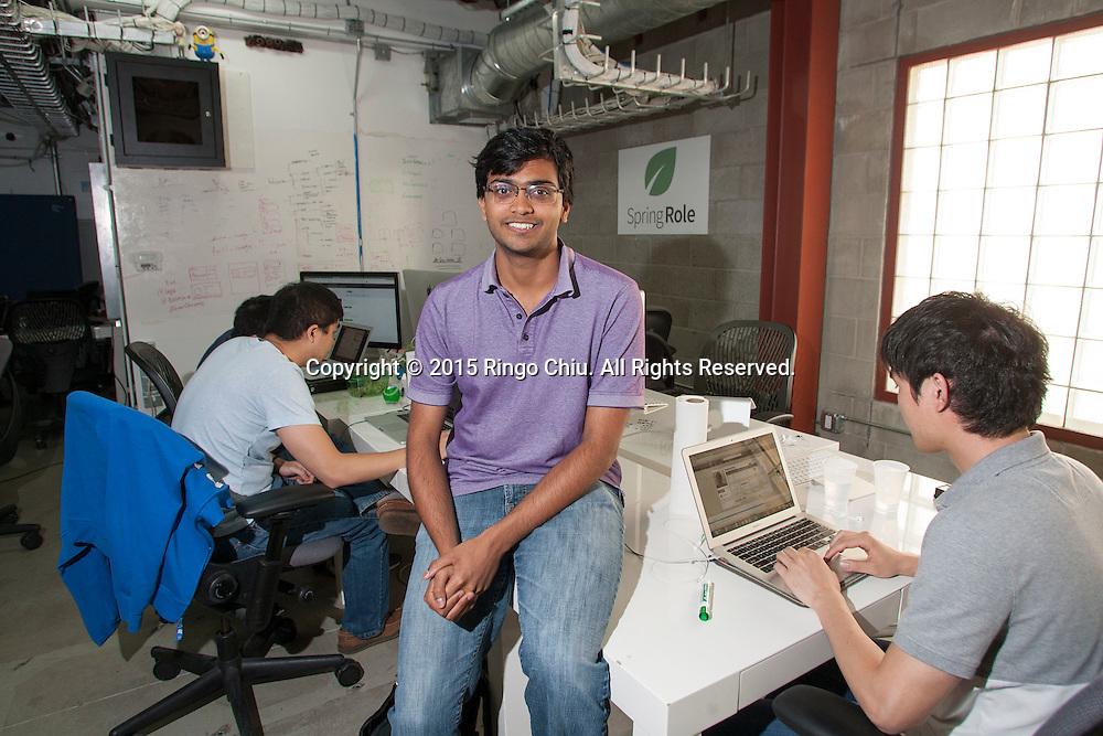 Kartik Mandaville, co-founder and CTO of Springrole.(Photo by Ringo Chiu/PHOTOFORMULA.com)