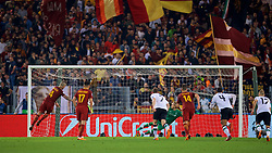 ROME, ITALY - Wednesday, May 2, 2018: AS Roma's Radja Nainggolan scores the fourth goal, from a penalty kick in injury time, during the UEFA Champions League Semi-Final 2nd Leg match between AS Roma and Liverpool FC at the  Stadio Olimpico. (Pic by David Rawcliffe/Propaganda)