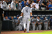 ATLANTA - AUGUST 13:  Outfielder Andre Ethier #16 of the Los Angeles Dodgers walks back to the dugout after making the last out of the game against the Atlanta Braves at Turner Field on August 13, 2010 in Atlanta, Georgia.  The Braves beat the Dodgers 1-0.  (Photo by Mike Zarrilli/Getty Images)