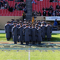 10 December 2011:   The Army Black Knights Corps of Cadets marches on the field prior to the game against the Navy Midshipmen at Fed Ex field in Landover, Md. in the 112th annual Army Navy game where Navy defeated Army, 27-21 for the 10th consecutive time..
