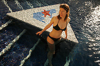 Birgit in a pool in Marseille..Model released