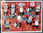 Liulichang art and antiquities street. Panda poster.