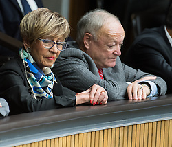 12.10.2016, Parlament, Wien, AUT, Parlament, Nationalratssitzung, Sitzung des Nationalrates mit Budgetrede des Finanzministers, im Bild v.l.n.r. Präsidentin des Österreichischen Pensionistenverbandes Ingrid Korosec (ÖVP) und ehemaliger Präsident des Österreichischen Pensionistenverbandes und ehemaliger Nationalratspräsident Andreas Khol // f.l.t.r. President Association of the Austrian Pensioners Ingrid Korosec (OeVP) and former Candidate for Presidential Elections Andreas Khol during meeting of the National Council of austria according to government budget 2017 at austrian parliament in Vienna, Austria on 2016/10/12, EXPA Pictures © 2016, PhotoCredit: EXPA/ Michael Gruber