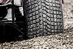 March 1, 2018 - Barcelona, Spain - Pirelli rain tyre in the gravel during Formula 1 winter tests 2018 at Barcelona, Spain from February 26 to March 01 - Photo Florent Gooden / DPPI  (Credit Image: © Hoch Zwei via ZUMA Wire)