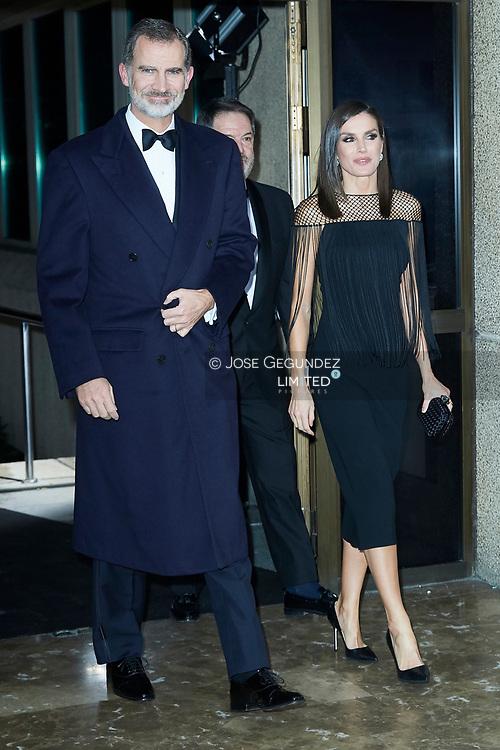 King Felipe VI of Spain, Queen Letizia of Spain attends  'Mariano de Cavia', 'Luca de Tena' and 'Mingote' Journalism Awards Dinner at Casa de ABC on December 3, 2019 in Madrid, Spain