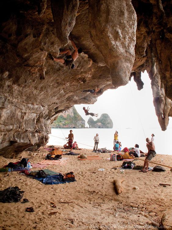 Climbing in Tonsai, Thailand.