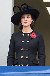 © Licensed to London News Pictures. 12/11/2017. London, UK. CATHERINE DUCHESS OF CAMBRIDGE attends a Remembrance Day Ceremony at the Cenotaph war memorial in London, United Kingdom, on November 13, 2016 . Thousands of people honour the war dead by gathering at the iconic memorial to lay wreaths and observe two minutes silence. Photo credit: Ray Tang/LNP