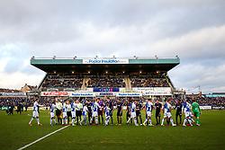 Handshakes - Rogan/JMP - 01/01/2018 - FOOTBALL - Memorial Stadium - Bristol, England - Bristol Rovers v Portsmouth - EFL Sky Bet League One.